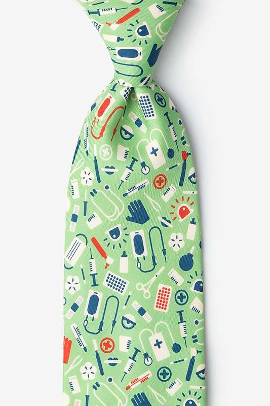 Medical Supplies Lime Green Tie Photo (0)