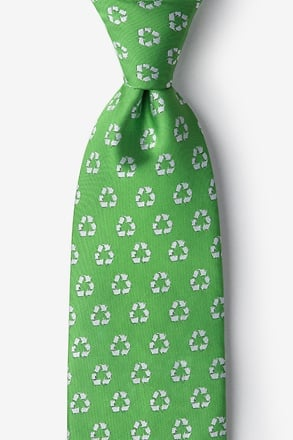 Recycling Symbol Lime Green Tie