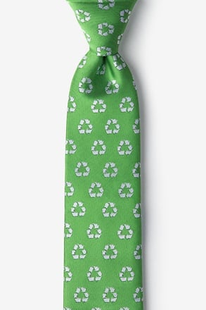 Recycling Symbol Tie For Boys
