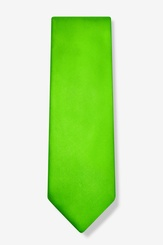 Lime Green Microfiber Spearmint Tie