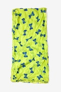 Bow Tied Lime Green Scarf by Scarves.com