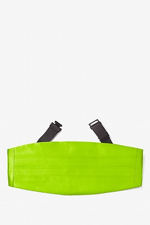 _Lime Green Cummerbund_