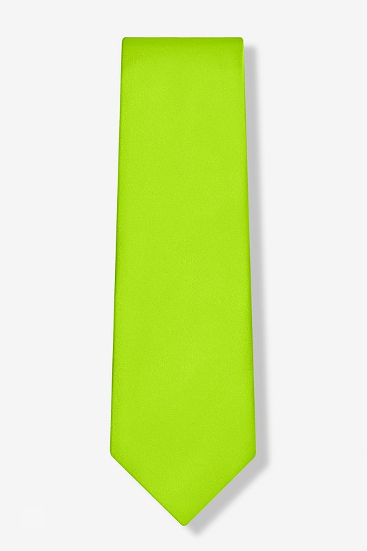 Lime Green Extra Long Tie