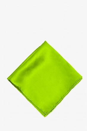 _Lime Green Pocket Square_