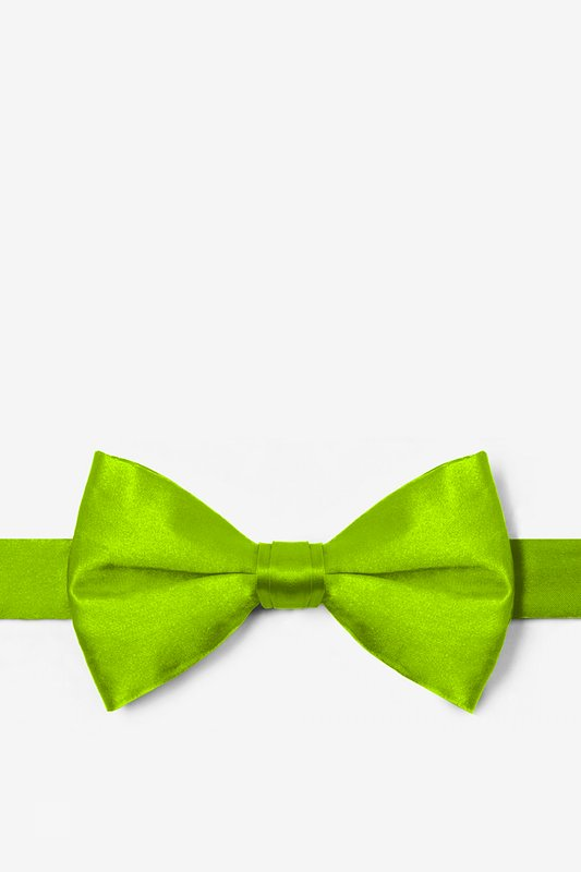 Lime Green Pre-Tied Bow Tie