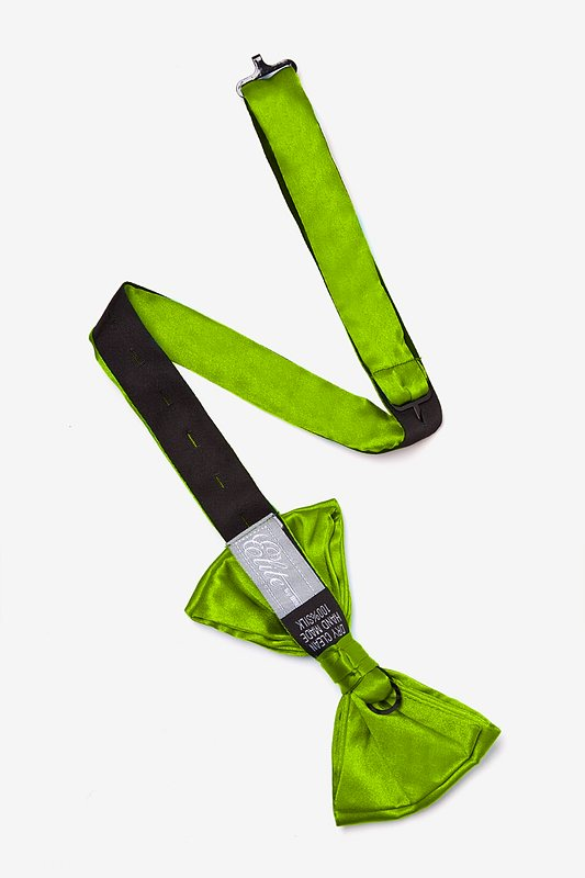 Lime Green Pre-Tied Bow Tie Photo (1)