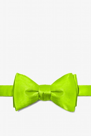Lime Green Self-Tie Bow Tie