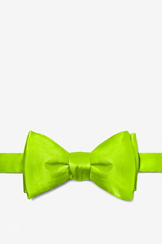 Lime Green Self-Tie Bow Tie Photo (0)