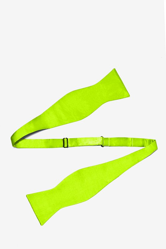 Lime Green Self-Tie Bow Tie Photo (1)