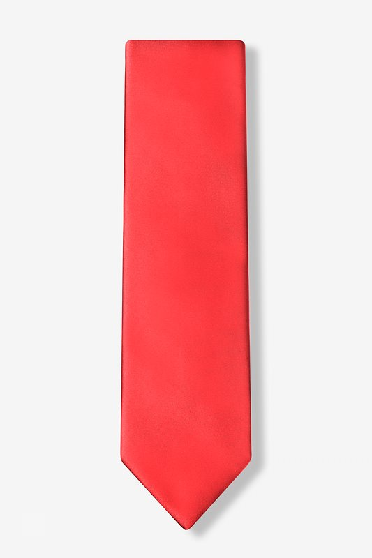 Lust Red Extra Long Tie
