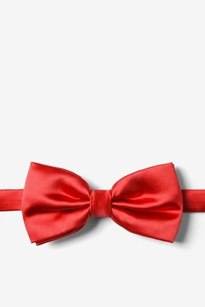 Lust Red Pre-Tied Bow Tie