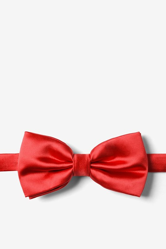 Lust Red Pre-Tied Bow Tie Photo (0)