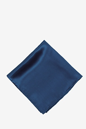 _Mallard Blue Pocket Square_
