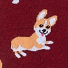 Maroon Carded Cotton Corgi Gang Sock