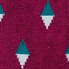 Maroon Carded Cotton Downey Sock