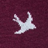 Flying Bird Maroon Sock