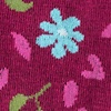 Maroon Carded Cotton Fresh Floral Sock