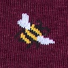 Bee Maroon Sock