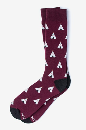 _Love Your Tribe Maroon Sock_