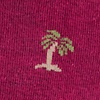 Maroon Carded Cotton Palm Trees Sock