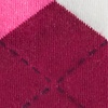 Maroon Carded Cotton Westminster Argyle Sock
