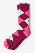 Westminster Argyle Maroon Sock Photo (0)