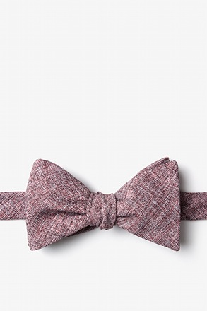 _Galveston Maroon Self-Tie Bow Tie_