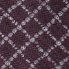 Maroon Cotton Glendale Extra Long Tie