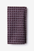 Maroon Cotton Glendale Pocket Square