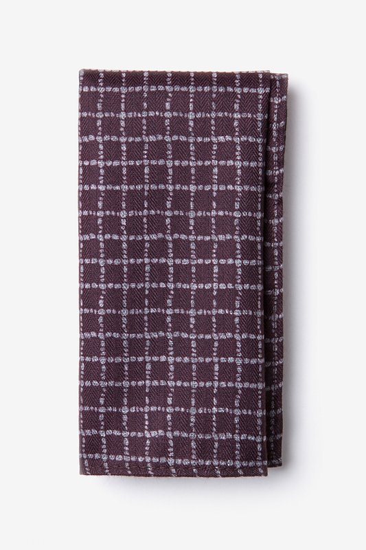 Glendale Maroon Pocket Square Photo (0)