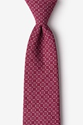 Maroon Cotton Nixon Extra Long Tie