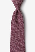 Maroon Cotton Springfield Extra Long Tie