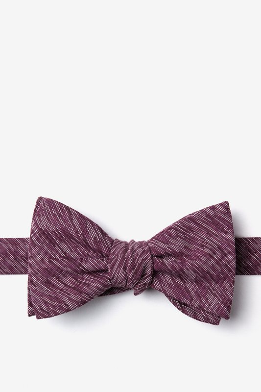 Springfield Maroon Self-Tie Bow Tie Photo (0)