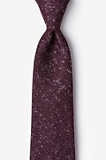 Maroon Cotton Wilsonville Extra Long Tie