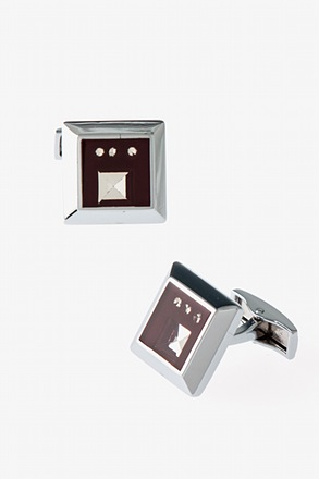 Chic Glimmering Square Cufflinks