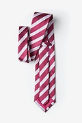 Jefferson Stripe Maroon Extra Long Tie Photo (1)