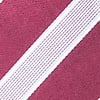 Maroon Microfiber Jefferson Stripe Self-Tie Bow Tie