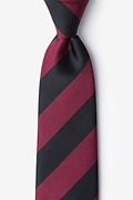 Maroon & Black Stripe Extra Long Tie