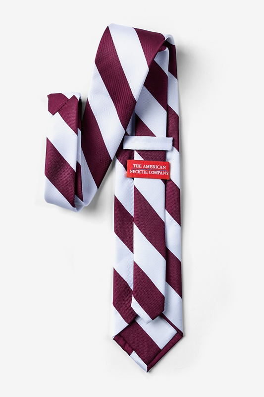 Maroon & White Stripe Tie Photo (1)