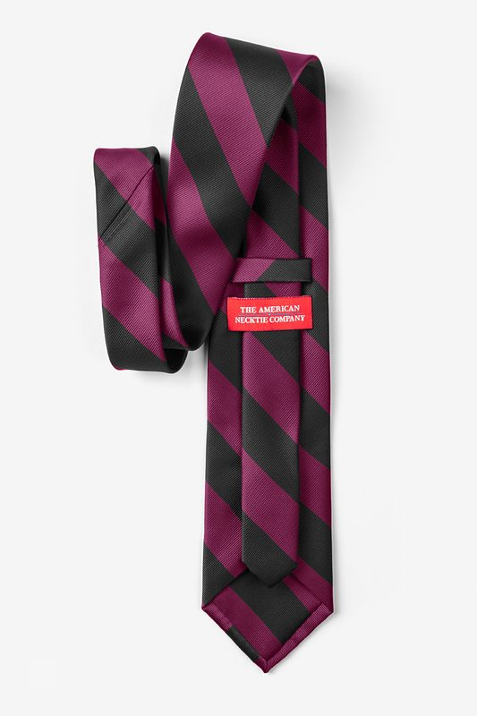 Maroon & Black Stripe Tie For Boys