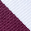 Maroon Microfiber Maroon And White Stripe Extra Long Tie