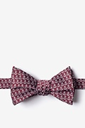 Maroon Microfiber Small Anchors Butterfly Bow Tie