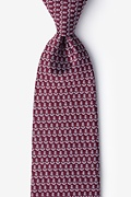 Maroon Microfiber Small Anchors Extra Long Tie