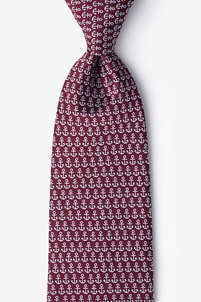 Small Anchors Extra Long Tie