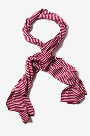 Maroon Polyester Candy Stripe Scarf