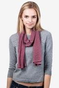 Candy Stripe Maroon Scarf by Scarves.com
