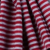 Maroon Polyester Mens Candy Stripe Scarf