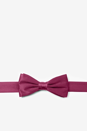 _Maroon Bow Tie For Boys_