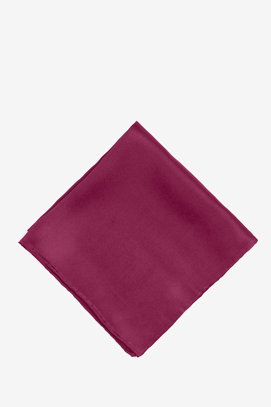 Maroon Pocket Square