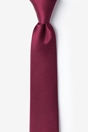 Maroon Tie For Boys